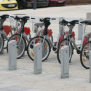 Mobile mit rental bike in Mulhouse © Innovation Academy