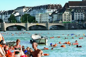 Official Rhine swimming in Basel © Basel Tourismus