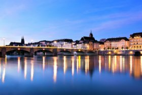 View over the Rhine to the historic city center of Basel © Andreas Zimmermann