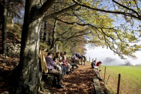 Break after hiking in Basel region © Baselland Tourismus
